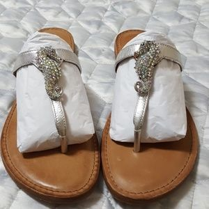 Authentic Antonio Melani silver sandals NWOT